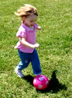 Little Girl Dribbling